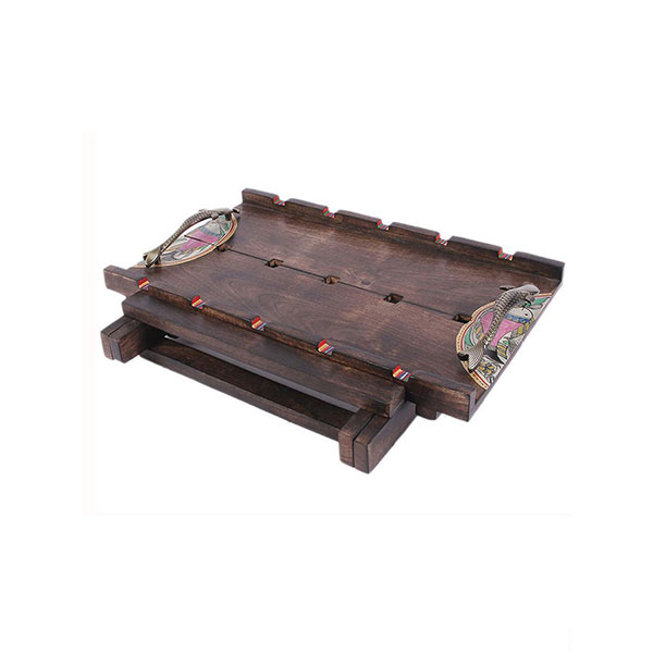 A E T Handcrafted Madhubani Bed Tray