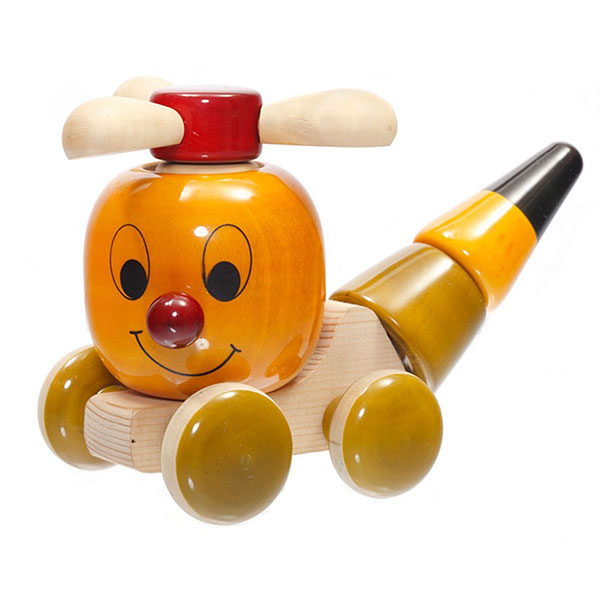 S F Chip Chop Wooden Toy - Stacker And Push Toy