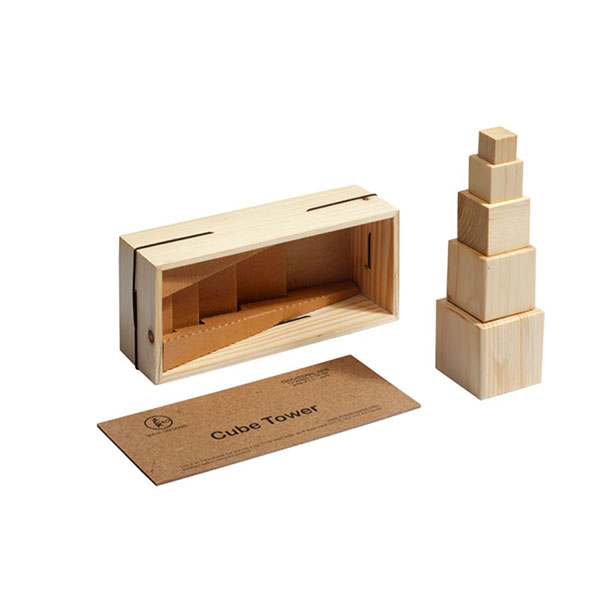 A S Handcrafted Wooden Sensorial Material : Cube T...